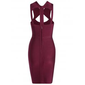 Caged Cut Out Bodycon Bandage Dress -