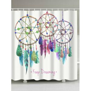 Feather Aeolian Bells Fabric Shower Curtain - White - W71 Inch * L79 Inch
