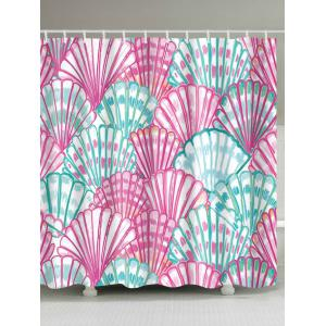 Watercolor Shell Waterproof Bath Shower Curtain
