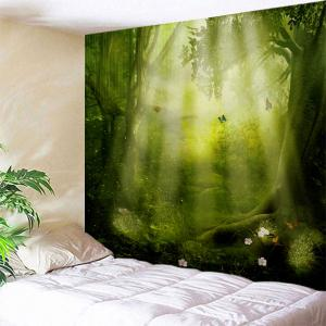 Fairy Forest Sunshine Hanging Wall Art Tapestry