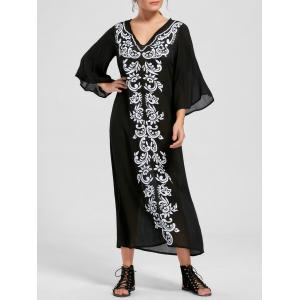 Bandana Floral Flare Sleeve Longline Dress