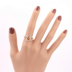 Rhinestone Sparkly Faux Crystal Finger Ring