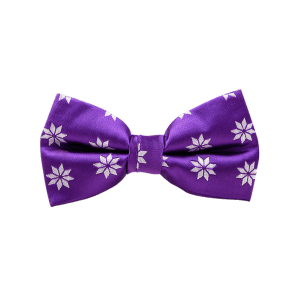 Polyester Geometrical Flower Pattern Bow Tie -