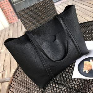 Ensemble de sac en bandoulière Faux Leather 4 Pieces - Noir