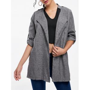 Oversized Open Front Tunic Coat
