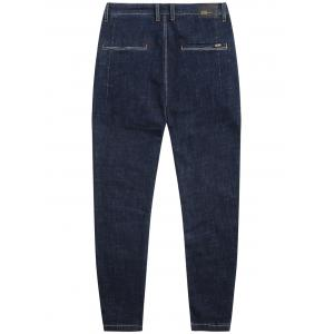 Zip Fly Dark Wash Tapered Jeans -