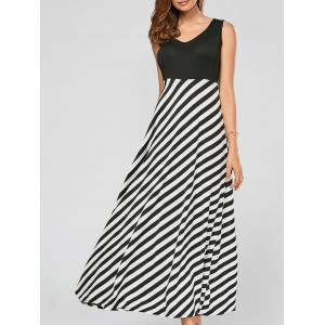 Striped A Line Long Maxi Dress