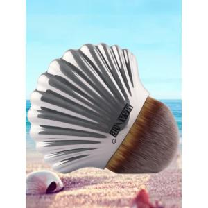 Plated Shell Shape Fiber Hair Foundation Brush