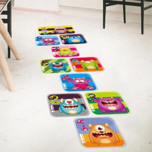 Hopscotch Monsters Wall Art Sticker For Children Room - COLORMIX 60*90CM