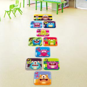Hopscotch Monsters Wall Art Sticker For Children Room - Colormix - 60*90cm