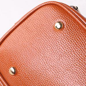 Zippers Belt Buckles Tote Bag - APRICOT