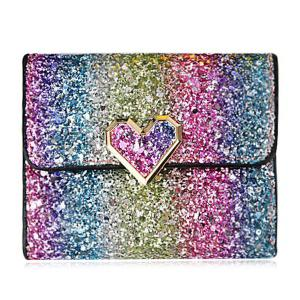 Sequins Multicolor Metal Small Wallet - Blue+rose Red+purple+green