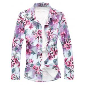 Long Sleeve All Over Floral Printed Shirt