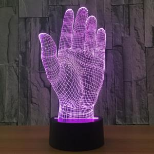 Colors Change Palm Design 3D LED Night Light - Transparent - 2xl