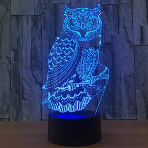 Owl Shape 7 Colors Changing 3D Night Light -