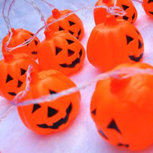 16 Pcs LED Halloween Party Pumpkin String Lights -