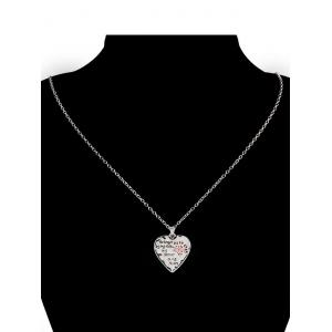Heart Engraved Forever Claw Footprint Necklace - RED