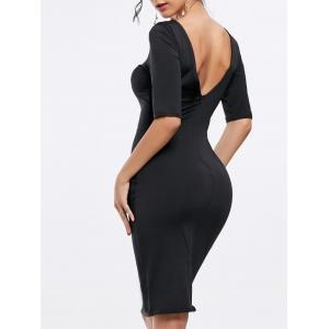 Open Back Party Pencil Dress
