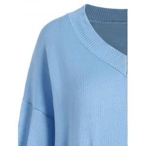 V Neck Pocket Size Size Sweater - Nuageux 3XL