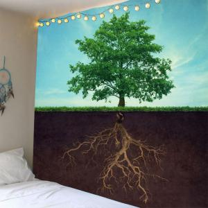 Wall Hanging Life Tree Pattern Waterproof Tapestry