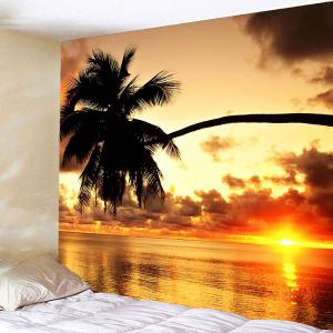 Sunset Coconut Tree Waterproof Hanging Wall Tapestry