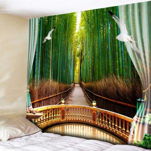 Bedroom Decor Bamboo Forest Printed Wall Tapestry
