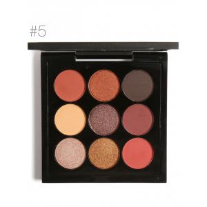 9 Colors Long Lasting Not Dizzy Waterproof Eyeshadow Kit - #05