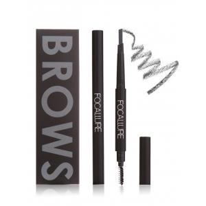 Two Head Waterproof Auto Brows Pencil With Brush -
