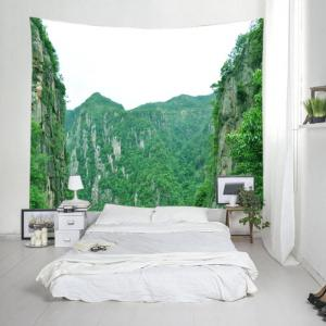 Moutains Print Tapestry Wall Hanging Art Decoration - GREEN W91 INCH * L71 INCH