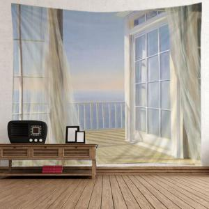 Balcony Ocean Print Tapestry Wall Hanging Art Decoration -