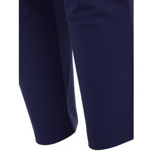 Elastic Waist Ankle Plus Size Pencil Pants - BLUE 6XL