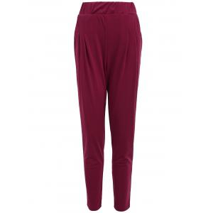 Elastic Waist Ankle Plus Size Pencil Pants