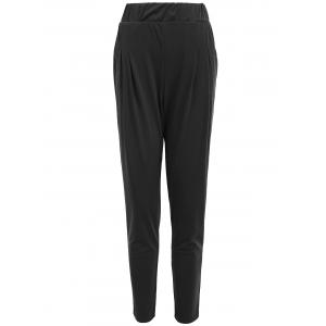 Elastic Waist Ankle Plus Size Pencil Pants - Black - 5xl