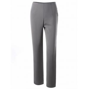 Button Side Straight Dress Pants