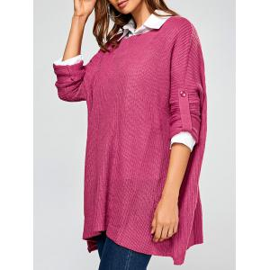Pullover Drop Shoulder Boyfriend Tunic Sweater