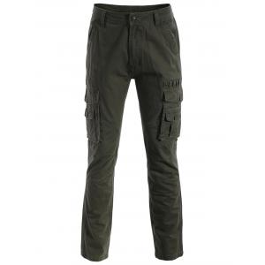 Multi-pockets Pants - Army Green - S
