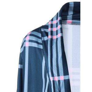 Collier en châle Checked Drape Cardigan -