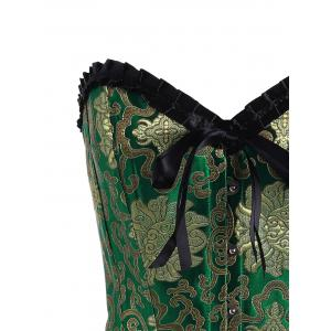 Brocade Vintage Corset Top with Bowknot -