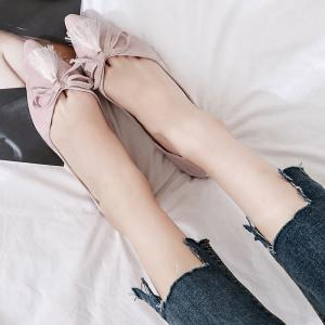 Tassels Pointed Toe Flat Shoes -