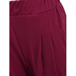 Elastic Waist Ankle Plus Size Pencil Pants -