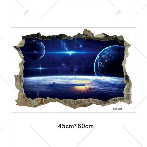 Store Galaxy Planets 3D Broken Wall Art Sticker For Bedroom - 45*60CM BLUE Mobile