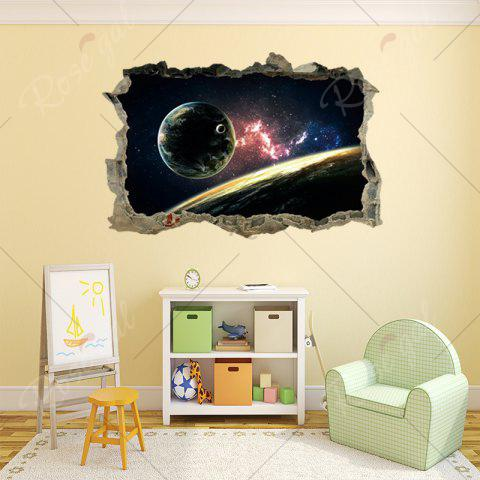 New Planet 3D Broken Wall Art Sticker For Bedroom - 45*60CM COLORMIX Mobile