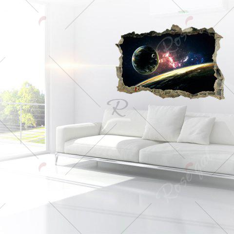 Outfit Planet 3D Broken Wall Art Sticker For Bedroom - 45*60CM COLORMIX Mobile