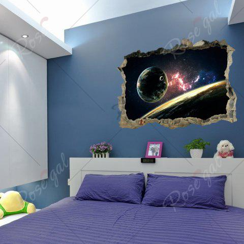 Buy Planet 3D Broken Wall Art Sticker For Bedroom - 45*60CM COLORMIX Mobile