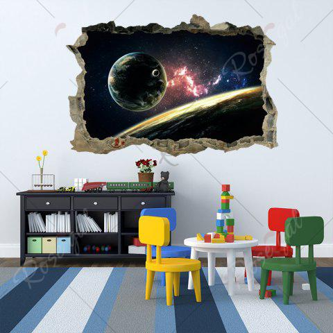 Store Planet 3D Broken Wall Art Sticker For Bedroom - 45*60CM COLORMIX Mobile
