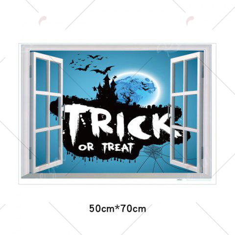 Shops Halloween Trick Or Teart Removable 3D Wall Art Sticker - 50*70CM ICE BLUE Mobile