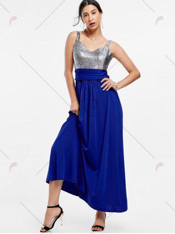 Store Backless Long Prom Evening Dress - S BLUE Mobile