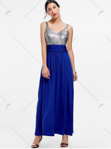 New Backless Long Prom Evening Dress - S BLUE Mobile