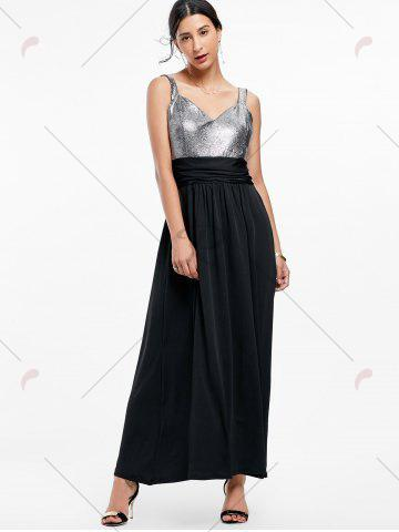 Latest Backless Long Prom Evening Dress - 2XL BLACK Mobile