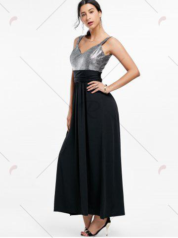 Affordable Backless Long Prom Evening Dress - 2XL BLACK Mobile
